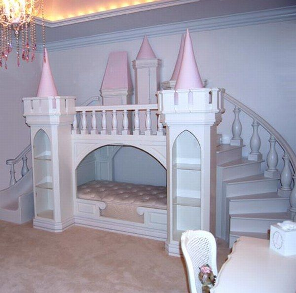 new styles cdde4 51a1e Indoor Fairy Tales: Beds Shaped Like Castles for Young ...