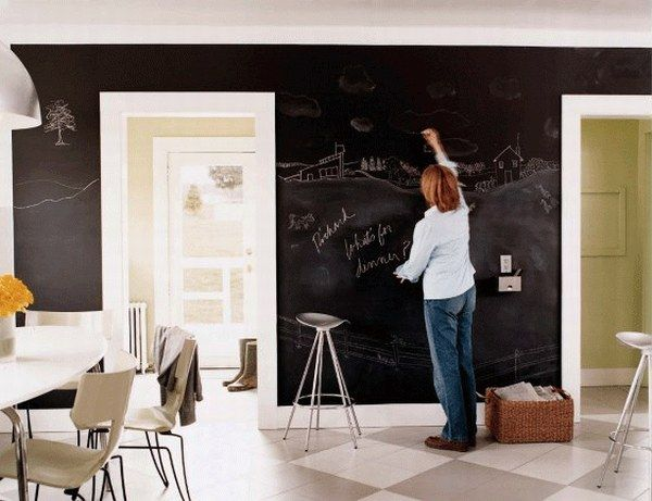 Apartment Chalkboards : Creative or Messy?