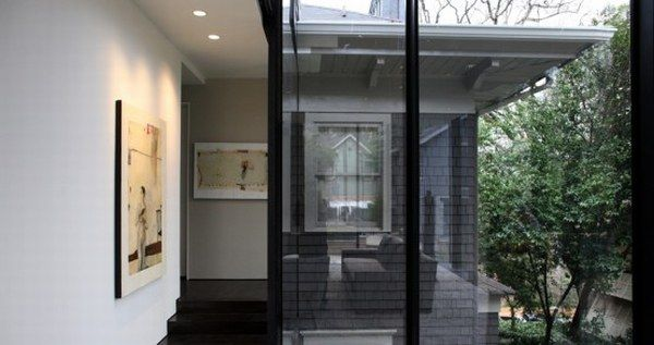 dark glass house 3 A Place Combining Glass and Darkness: the   Ansley Park Glass House in Atlanta