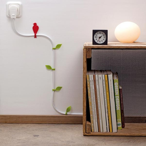 decorating cables Decoration Idea to Hide the Wires in Your Home