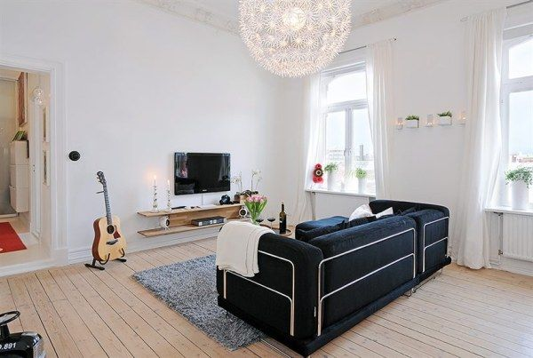 Super Decorating A Three Room Apartment With Style Freshome Com Home Interior And Landscaping Synyenasavecom