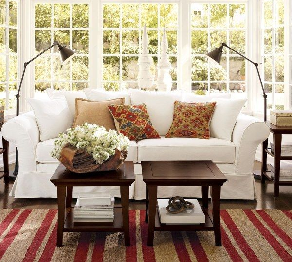 img19l Sofas and Living Rooms Ideas With A Vintage Touch From Pottery Barn