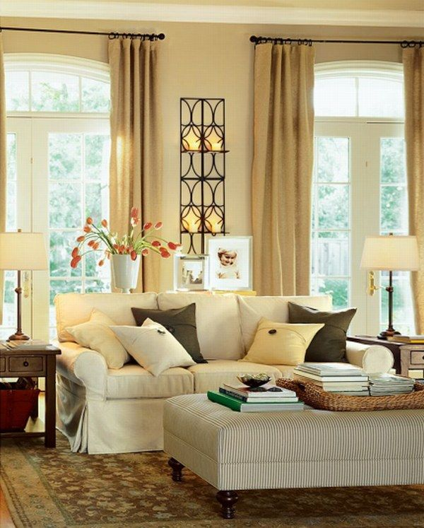 Sofas And Living Rooms Ideas With A Vintage Touch From Pottery Barn