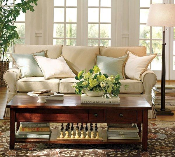 img72l Sofas and Living Rooms Ideas With A Vintage Touch From  Pottery Barn