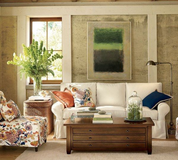 img85l Sofas and Living Rooms Ideas With A Vintage Touch From  Pottery Barn