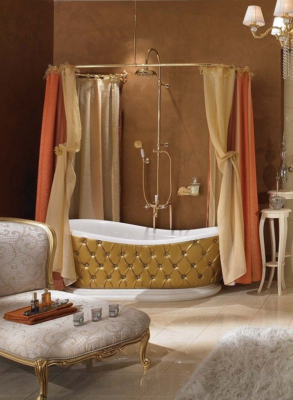 lineatre bathroom gold 2 Dramatic, Opulent and Original Bathtubs From Lineatre