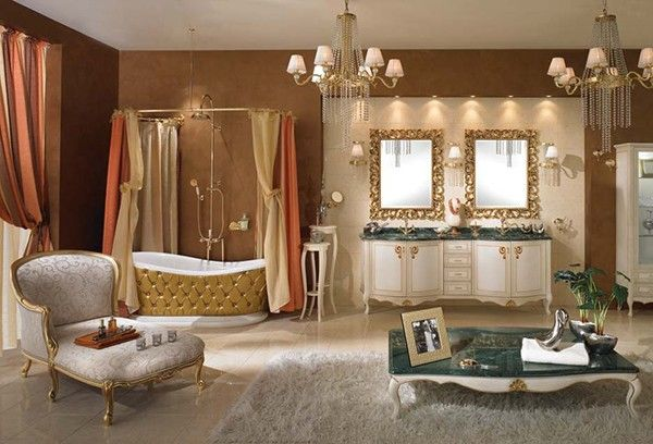 lineatre bathroom gold Dramatic, Opulent and Original Bathtubs From Lineatre