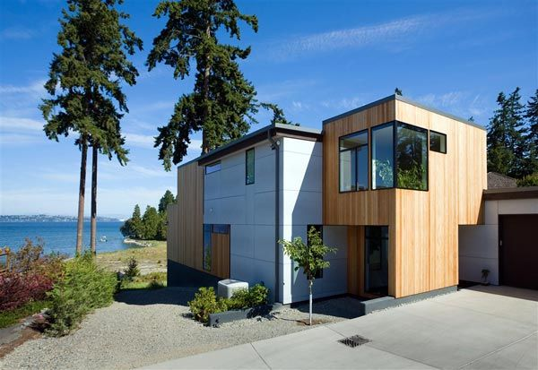 modern island home0 Clean Modern Lines Home Design : Bainbridge Island Home