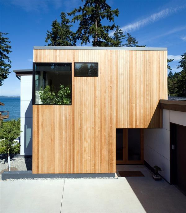 modern island home1 Clean Modern Lines Home Design : Bainbridge Island Home