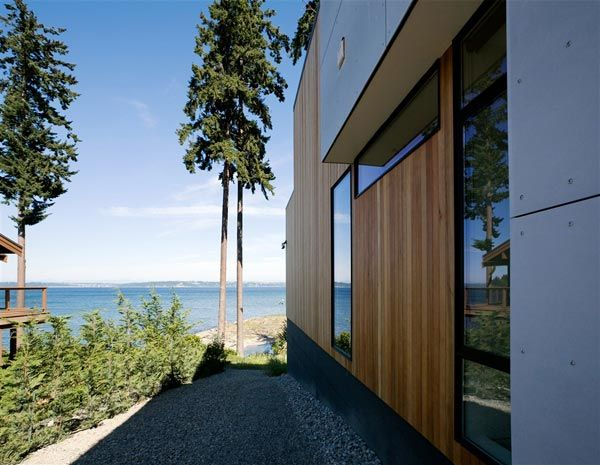 modern island home3 Clean Modern Lines Home Design : Bainbridge Island Home