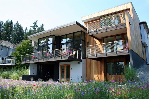 modern island home4 Clean Modern Lines Home Design : Bainbridge Island Home