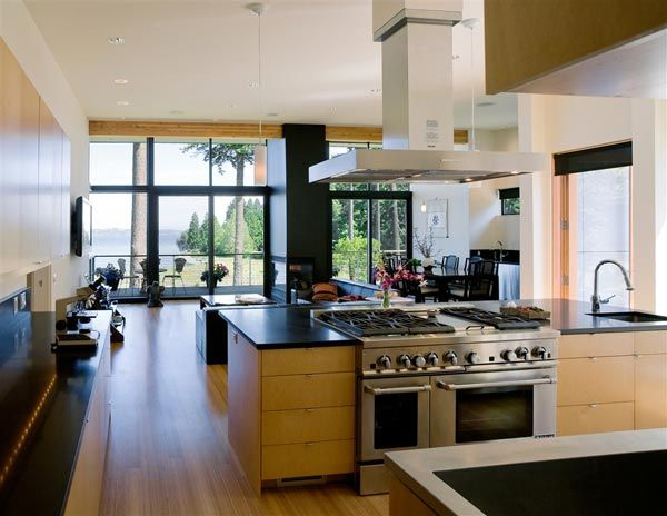 modern island home5 Clean Modern Lines Home Design : Bainbridge Island Home