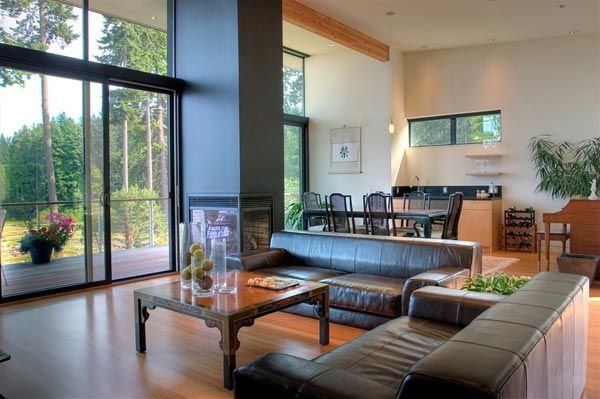 modern island home8 Clean Modern Lines Home Design : Bainbridge Island Home