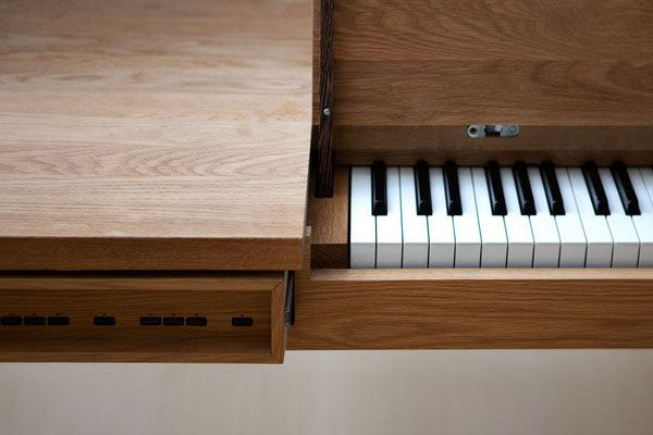 Functionally Designed Piano Table by Georg Bohle