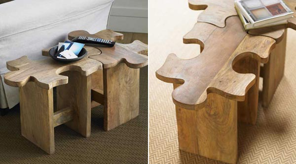 Furniture Inspired by Puzzle : Jigsaw Puzzle Stool
