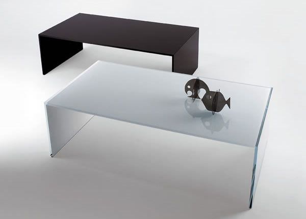 qubik 01 Glass Coffee Tables Collection From Tunelli