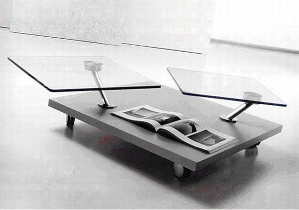 swivel cofee table Top 20 Unique Contemporary Coffee Tables