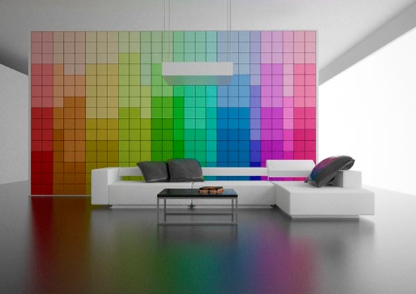 wall changing color Could this be the Future of Interior Design ?