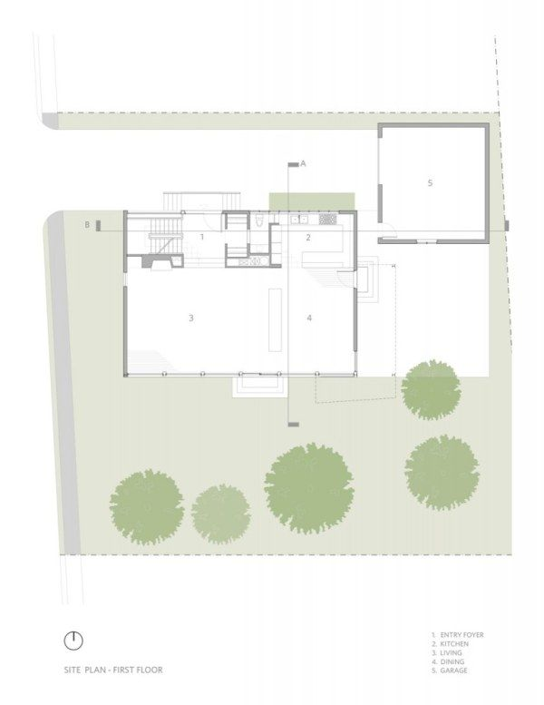 1267124007 ground floor plan 772x1000 Kowalewski Residence, A Rigid Place to Live In Or A Cool Modern House?