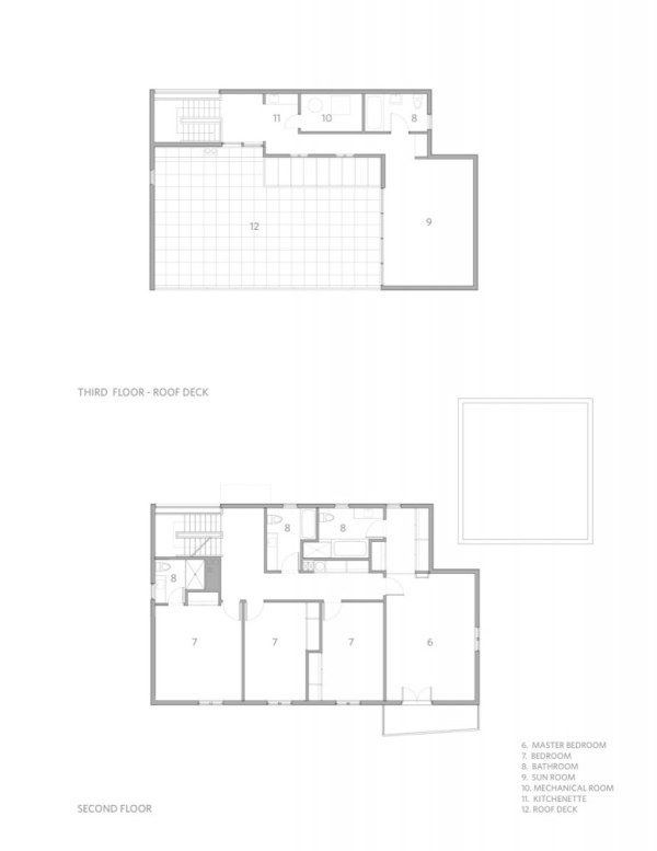 1267124017 second third floor plan 772x1000 Kowalewski Residence, A Rigid Place to Live In Or A Cool Modern House?