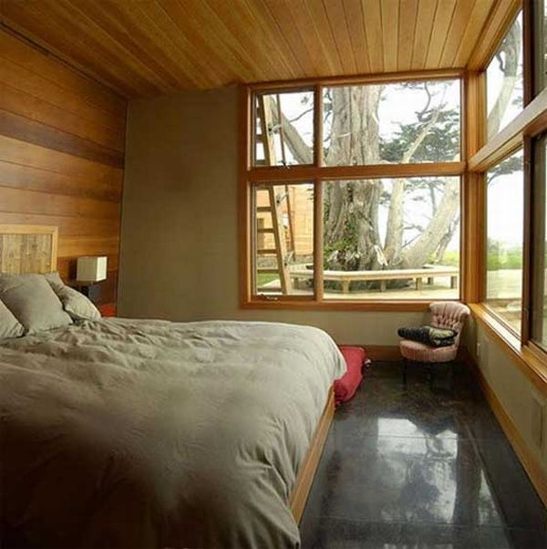 Bedroom of Wood Home Decoration by Johnston Architects Bluff Contemporary Wooden Retreat by Johnston Architects