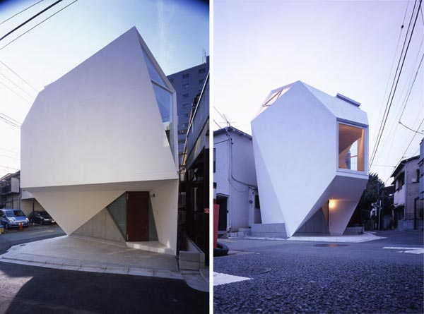 Reflection of Mineral Tokyo 2006 by Atelier tekut4 Amazing Home Breaking Architecture Rules in Tokyos Center