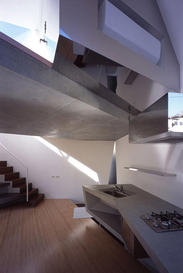 Reflection of Mineral Tokyo 2006 by Atelier tekut7 Amazing Home Breaking Architecture Rules in Tokyos Center