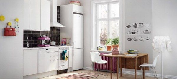 awesome white kitchen 582x261 19 Scandinavian Kitchen Designs From Marbodal