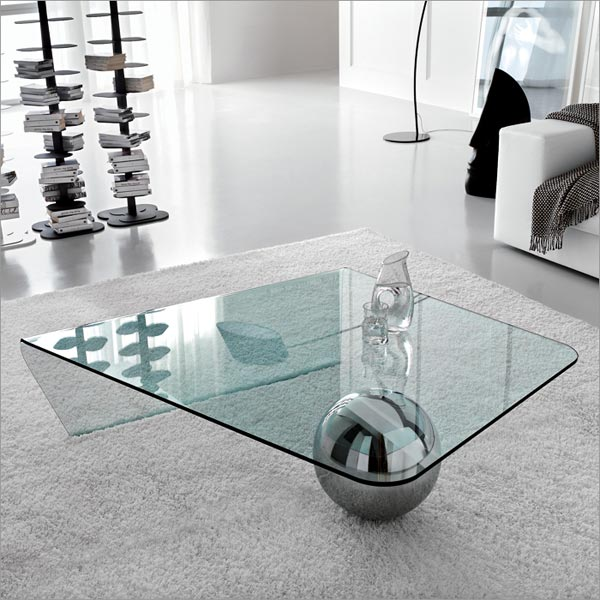 modern glass coffee table. This Globe glass coffee table