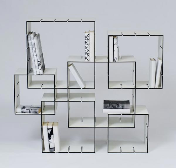 konnex bookshelves4 New Shelf System : Konnex by Florian Gross