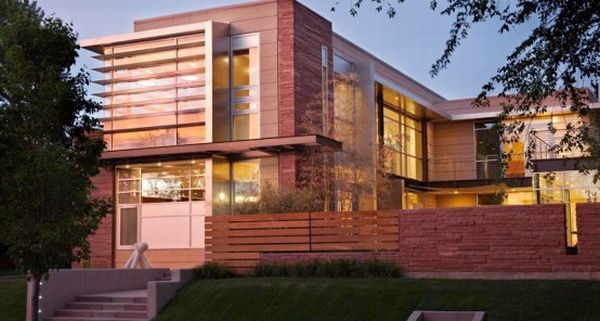luxury contemporary house design with floor to ceiling w 004 Fashionable Home in Denver, A Showcase  of Luxury  And Style