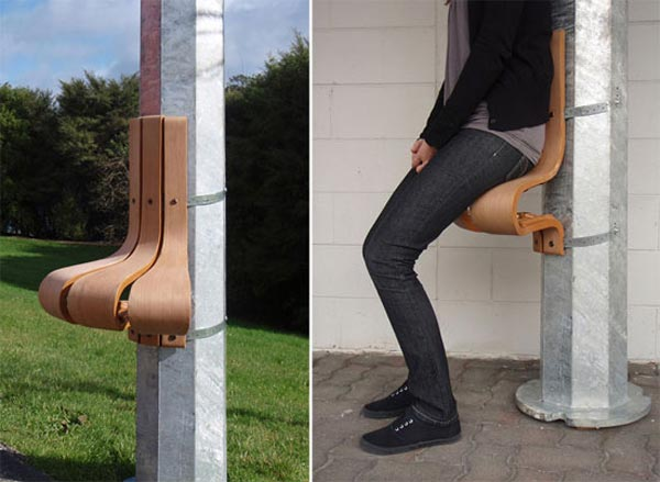 wanderest Pillar Resting Chairs, an Alternative for Public Benches