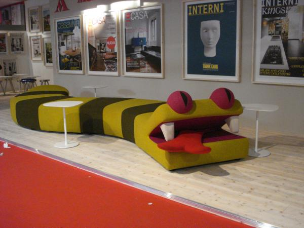 Crazy Reptile Couch at Salone del Mobile, Milan 2010