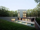 cube house with amazing swimming pool 1 554x421 170x130 Inspiring Home with One Garden per Level in Singapore