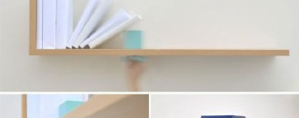 Shelf with Adjustable Integrated Bookend