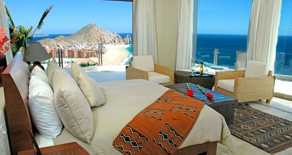 bedroom island villa 23 Amazing Bedrooms with a Panoramic View of the Ocean