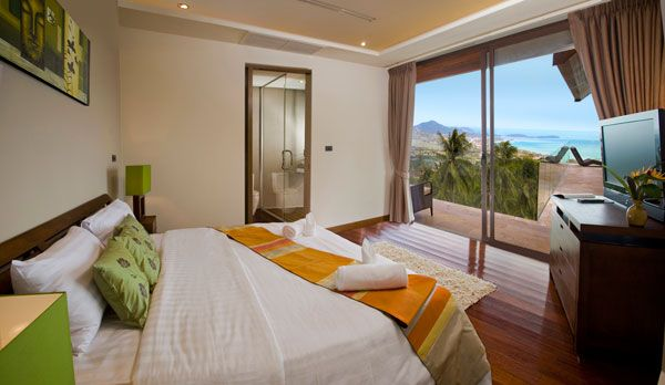 bedroom ocean view 23 Amazing Bedrooms with a Panoramic View of the Ocean