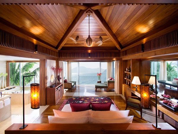 bedroom view villa island 23 Amazing Bedrooms with a Panoramic 