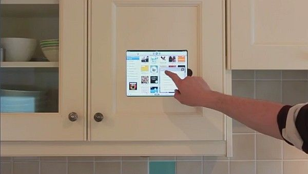 Ipad Mounted In Kitchen Cabinet Smart Or Not Freshome Com