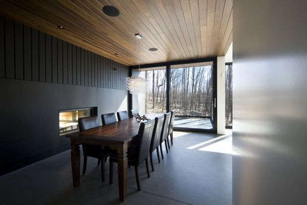mountain chalet plan quebec canada 4 Modern Mountain Cottage in Quebec, by Blouin Tardif Architecture