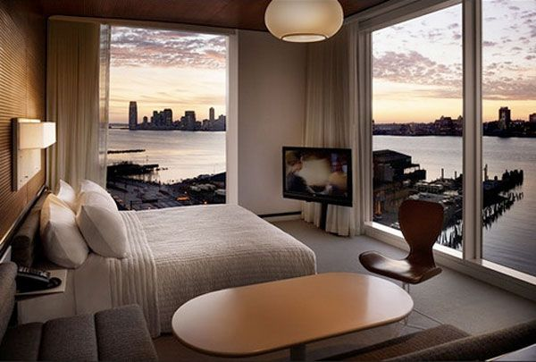 ny bedroom sunrise 23 Amazing Bedrooms with a Panoramic View of 