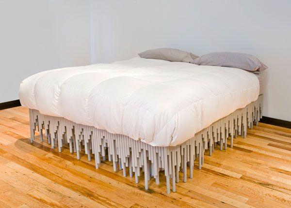 unusual material bed Furniture made with odd and unusual materials by BRC Designs