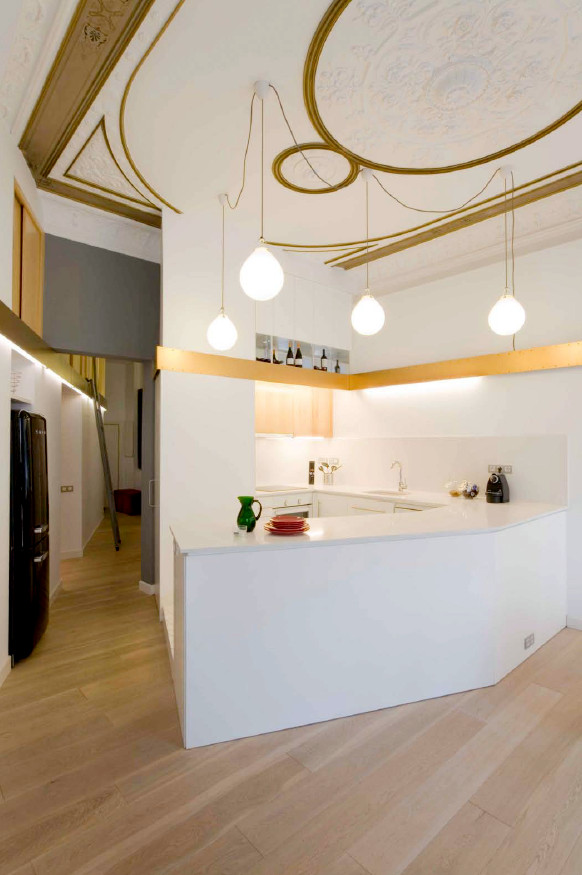 1277472700 miel santpere47 foto 06 Flat Renovation in Barcelona, Based on Strong Visual Effects