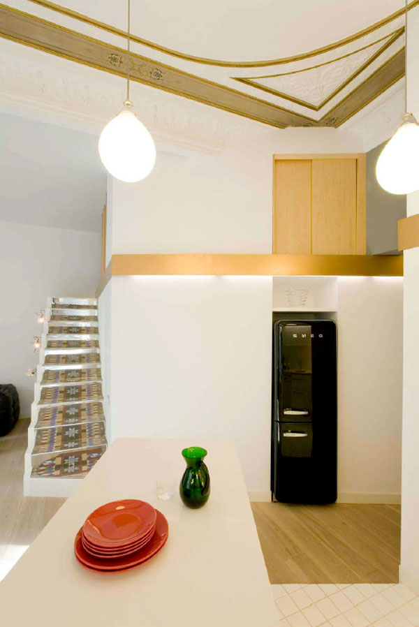 1277472703 miel santpere47 foto 07 Flat Renovation in Barcelona, Based on Strong Visual Effects