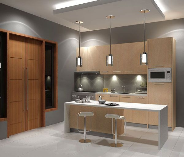 Modern Kitchen Interior Design Maple Kitchen