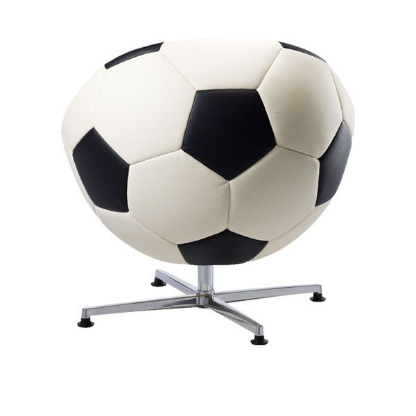 fotball chair3 Leather Soccer Armchair by Paolo Lillus for all World Cup Fans