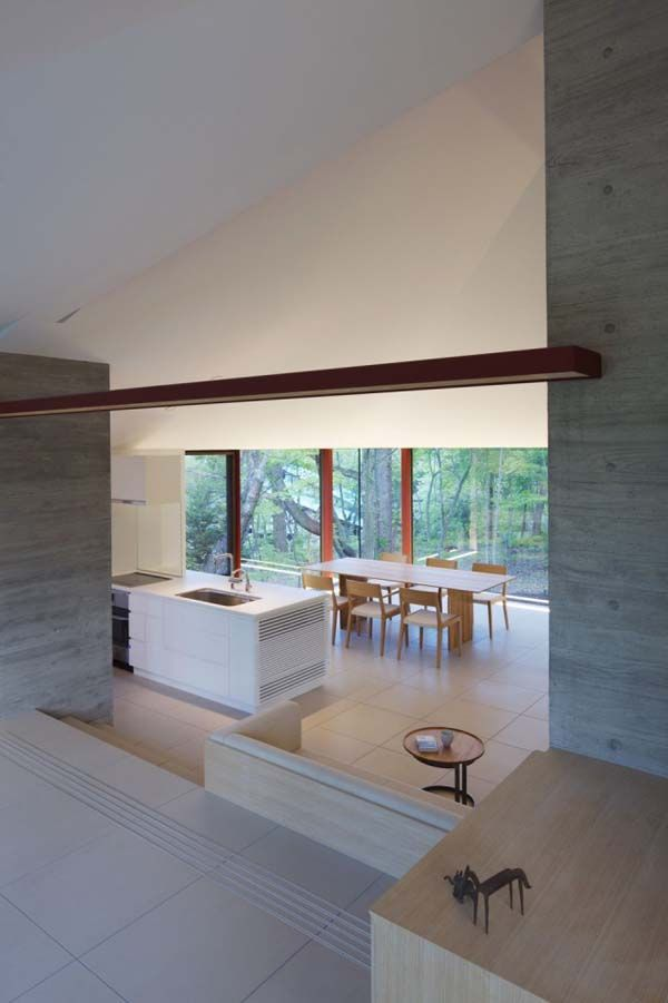 interior21 VILLA K, a Contemporary Hilltop Residence in Japan