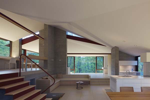 interior231 VILLA K, a Contemporary Hilltop Residence in Japan