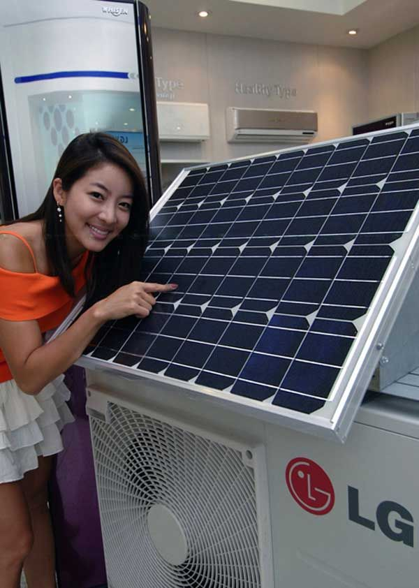 Eco-friendly Solar Hybrid Air Conditioner from LG