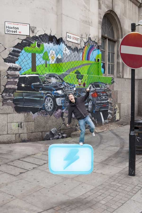 london2 Get in the Game! Beautiful 3D Promotional Street Art
